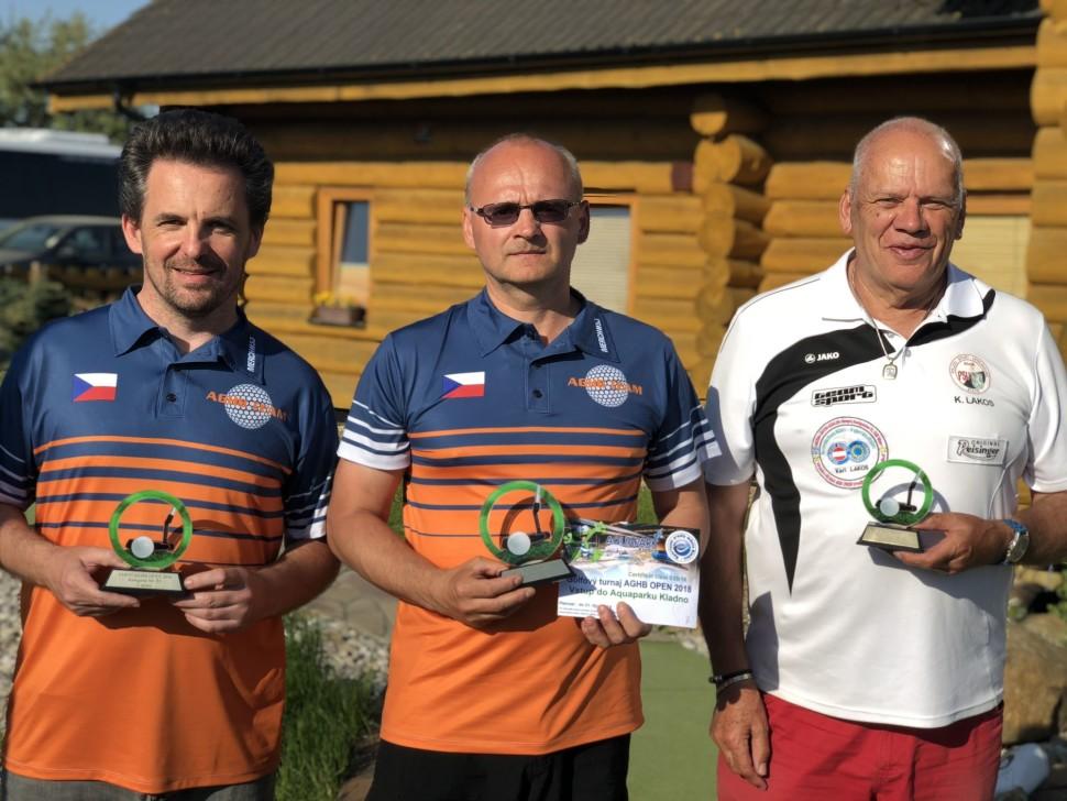 KATEGORIE MUŽI - vítěz Petr Hanusek, druhý Daniel Vlček a třetí Karl Lakos z Rakouska